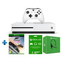 MICROSOFT - Pack Xbox One S 500GO nue + Forza Horizon 3 + abo 3 mois + casque filaire