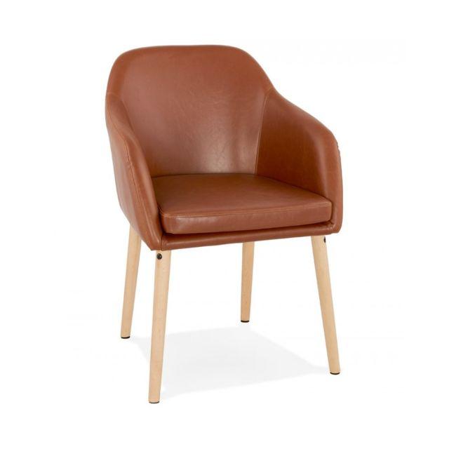 Kokoon Design Fauteuil design Madox Brown 55x56x80 cm
