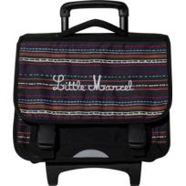 LITTLE MARCEL - Cartable à roulettes - 2 Compartiments- L 41cm