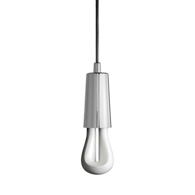 Plumen Led 002-Suspension avec Ampoule Led 002 H9,7cm Chrome
