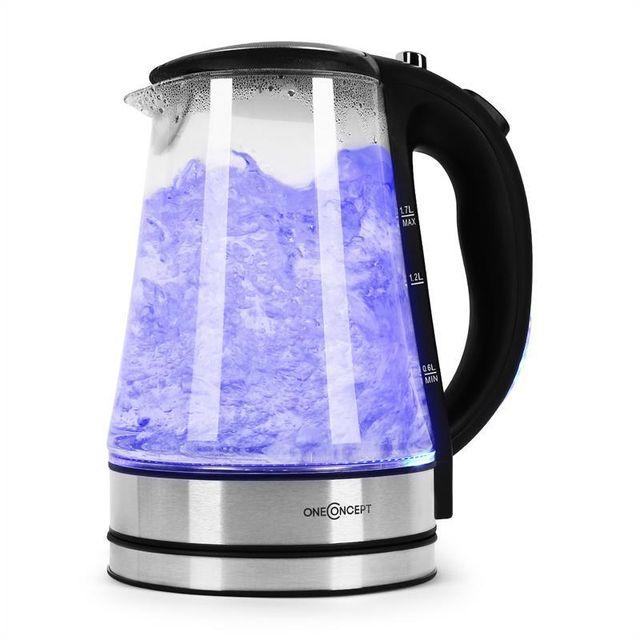 ONECONCEPT Blue Lagoon Bouilloire électrique LED 1,7L -noir