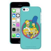 Simpsons - Coque Imprimee Mat Brillant Family Turquoise Iphone 5c