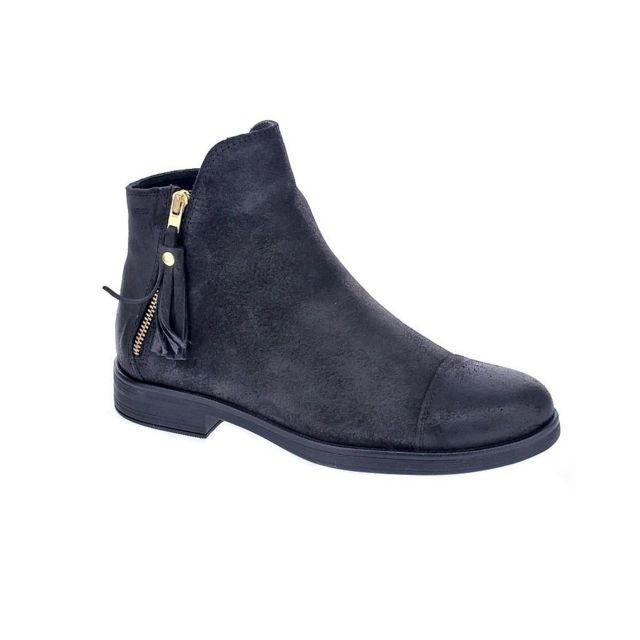 5fd4473c85c10 Geox - Chaussures Fille Bottine modele Agata Noir - 31 - pas cher ...