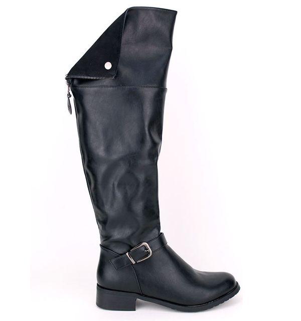 Cendriyon - Botte cuissarde noire Quells Mode - pas cher Achat   Vente  Bottes femme - RueDuCommerce 4f6730bad5d