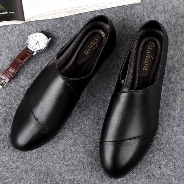 Chaussures Chaussure tout,aller confortable et en cuir souple pour hommes  Couleur Noir Taille 41