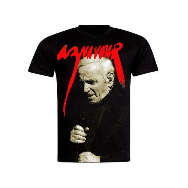 68e03952cb2 Magiccustom - Aznavour - T-shirt Noir On The Scene - pas cher Achat ...