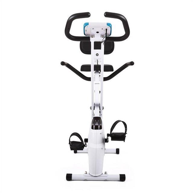 KLARFIT - Azura vélo d'appartement pliable avec dossier et accoudoir pulsomètre