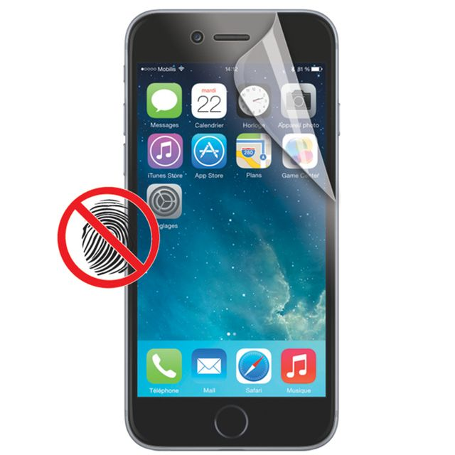 mobilis screen protector anti fingerprint iphone 6s plus transparent pas cher achat. Black Bedroom Furniture Sets. Home Design Ideas