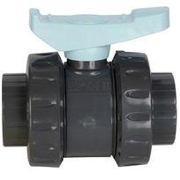 Astore - vanne pvc double union à coller 50mm pn16 - ast50