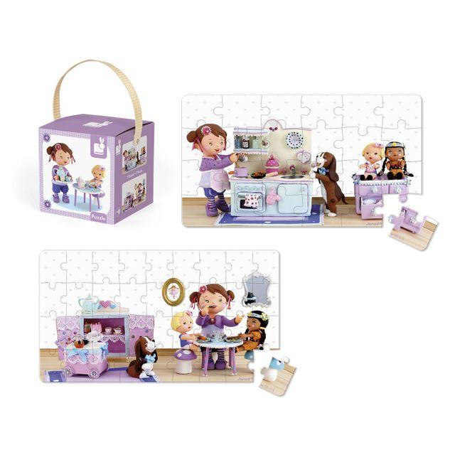 JANOD Puzzle 24 et 36 pièces : Lovely puzzle Lola joue à la dînette