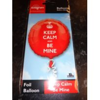 "Party Showroom - Amscan Ballon Aluminium Rouge ""KEEP Calm And Be Mine"" 46 Cm"
