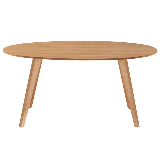 Miliboo table manger design scandinave ovale ch ne Table a manger carrefour