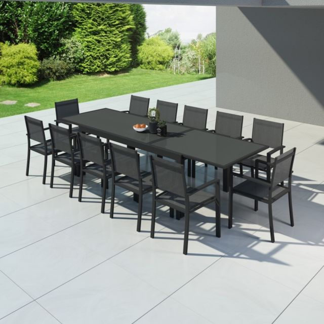 Avril Paris   Hara Xxl   Table De Jardin Extensible Aluminium 200/320cm + 12