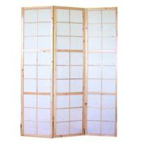 Decoshop26 - Paravent 3 panneaux pans en bois naturel et papier riz 175x132cm Par06033