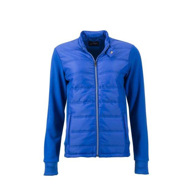 James & Nicholson Veste hybride matelassée - Jn1123 - bleu nautique - Doudoune légère Femme