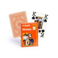 Modiano - Cartes 100% plastique 4 index orange