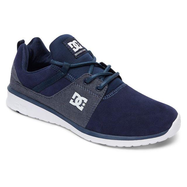 abab123d8d23 Dc - Shoes Heathrow Se Chaussure Homme - Taille 44 - Bleu - pas cher Achat  / Vente Baskets homme - RueDuCommerce