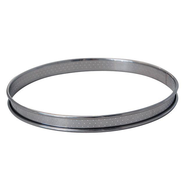 DE BUYER cercle à tarte rond inox 10cm perforé bord roulé - 3093.10