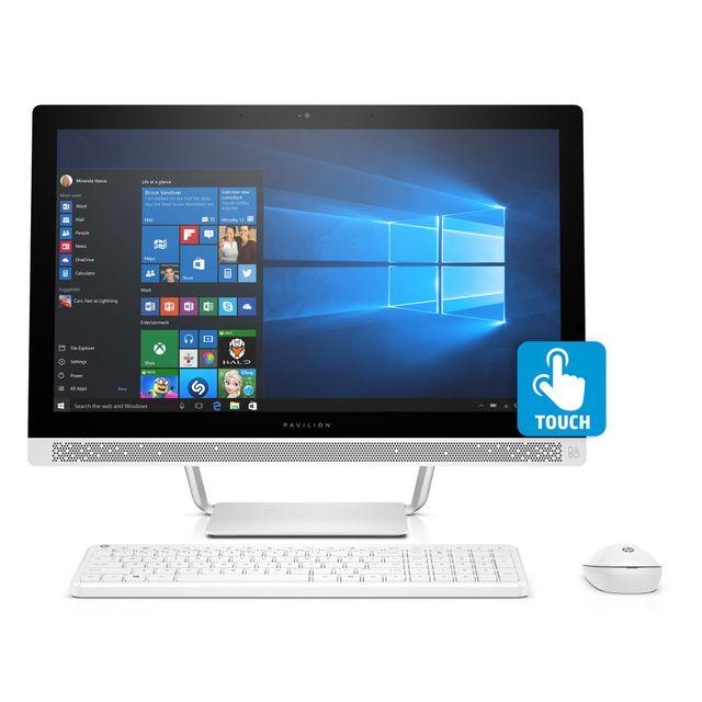 achat hp all in one 24 b200nf blanc ordinateur de bureau intel core i5. Black Bedroom Furniture Sets. Home Design Ideas