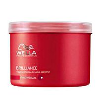 Wella - Masque cheveux colorés fins, 500 ml care Brilliance