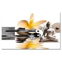 Declina - Toile imprim?e zen pas ch?re - Vente tableau bouddha