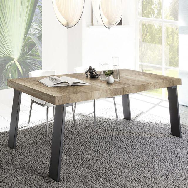 Sofamobili Table à manger moderne couleur chêne Mallorca 2