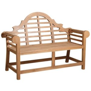 aubry gaspard banc de jardin en teck longueur 150cm naturel pas cher achat vente chaises. Black Bedroom Furniture Sets. Home Design Ideas