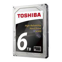 TOSHIBA - Disque dur 3.5 N300 6 To 7200rpm 128 Mo Boîte