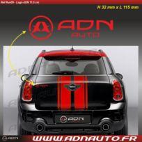 Adnauto - Autocollant - Logo horizontal - Rouge - 11.5cm - Adnlifestyle