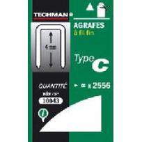 Techman - Agrafes 10 mm - type C