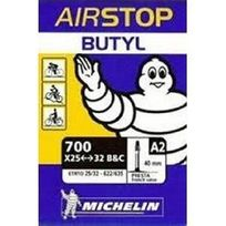 Michelin - Chambre a air type A2 modele Airstop Butyl dimensions 700 25/32 valve presta 40mm