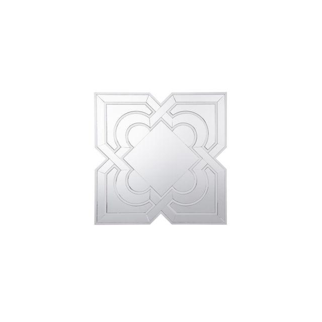 BELIANI Miroir 80 x 80 cm argenté HONFLEUR - argent