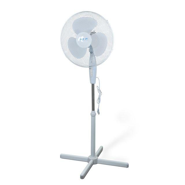 stp ventilateur sur pied ff 40 blanc pas cher. Black Bedroom Furniture Sets. Home Design Ideas
