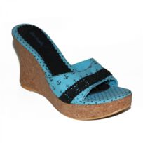 Lost Angels - Samples shoes Anchor Star Wedge Turquoise Women