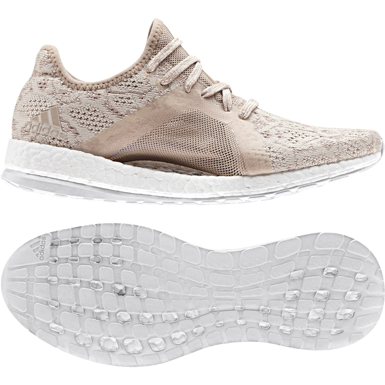 Adidas - Chaussures femme Pureboost X Element rose cendré/rose cendré/bleu foncé - pas cher Achat / Vente Chaussures running