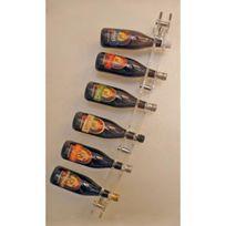 Sobrio - Porte-Bouteilles mural en plexiglas pour 6 bouteilles de champagne - Plexiglas transparent Aci-sbr131