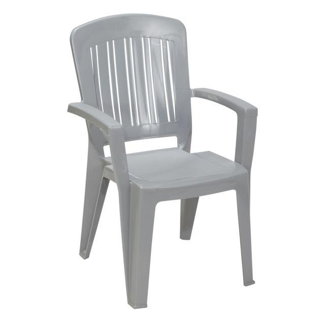 chaise de jardin en plastique chez carrefour