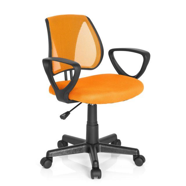 Chaise de bureau enfant siège de bureau enfant Kiddy Cd tissu maille orange
