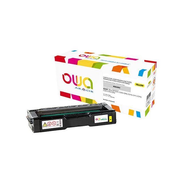 Toner Armor Owa compatible Ricoh 406482 jaune pour imprimante laser