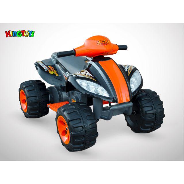 Kingtoys Quad électrique enfant - Varox 35W - Noir