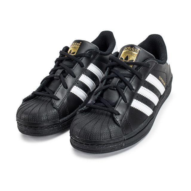 Adidas Superstar Foundation Enfant Noire Et Blanche pas