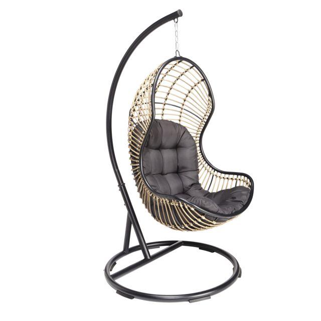 hyba fauteuil siena cocoon taupe pas cher achat vente fauteuil de jardin rueducommerce. Black Bedroom Furniture Sets. Home Design Ideas