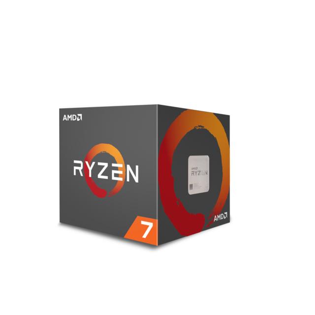 AMD Processeur Ryzen 7 2700, avec Wraith Spire LED, cooler Processeur de Bureau AMD Ryzen 2700 8 cœurs / 16 threads - Socket AMD AM4 - 65W – Socket X470