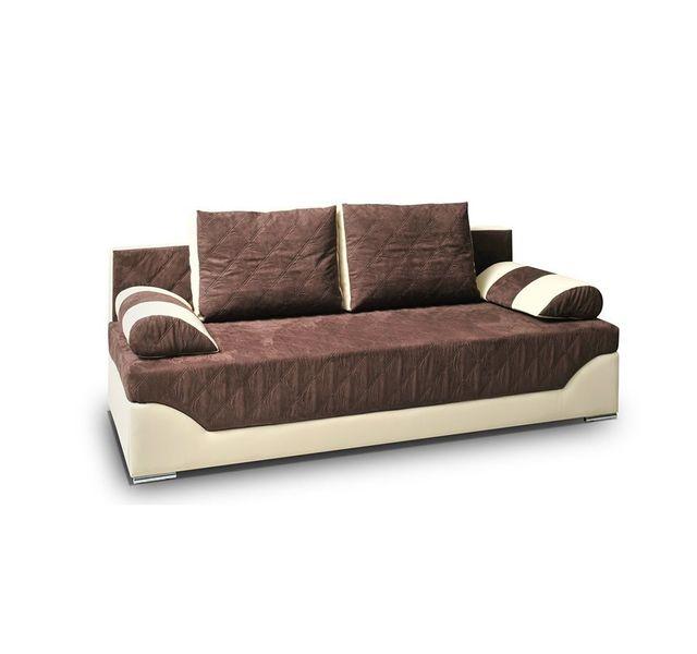 CHLOE DESIGN Canapé convertible bradley - chocolat et ivoire