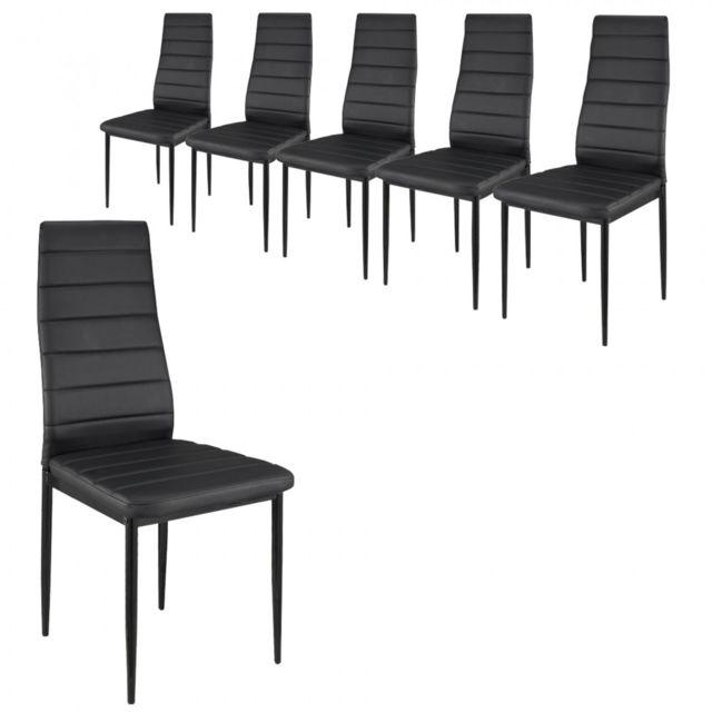 Paolo Collaner Chaises S2 design et ultra-confort Noir - lot de 6