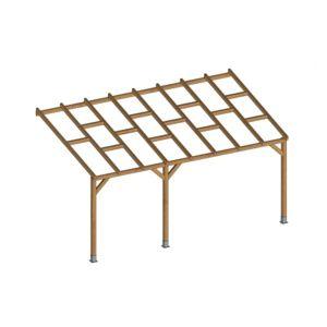 pergola bois 3x4 pas cher. Black Bedroom Furniture Sets. Home Design Ideas