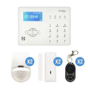iprotect alarme maison sans fil gsm centrale tactile pas cher achat vente alarme. Black Bedroom Furniture Sets. Home Design Ideas
