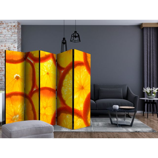 225x172 Paravent 5 volets Paravents 5 volets Esthetique Orange slices II Room Dividers