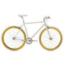 Ks Cycling - Vélo fitness 28'' Pegado blanc-doré Tc 59 cm