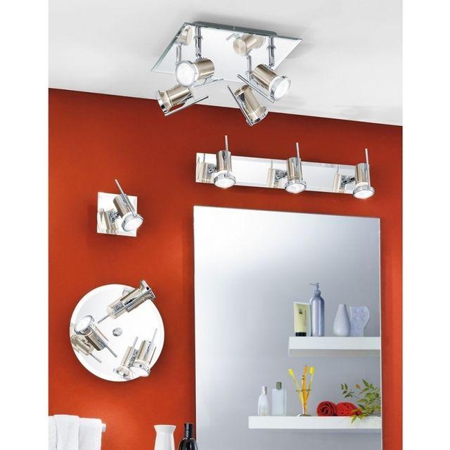 Applique murale de salle de bain avec effet miroir